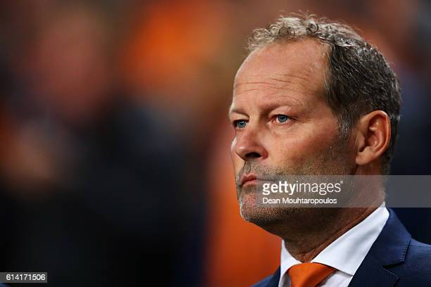Manager / Head coach of the Netherlands Danny Blind looks on during the FIFA 2018 World Cup Qualifier between Netherlands and France held at...
