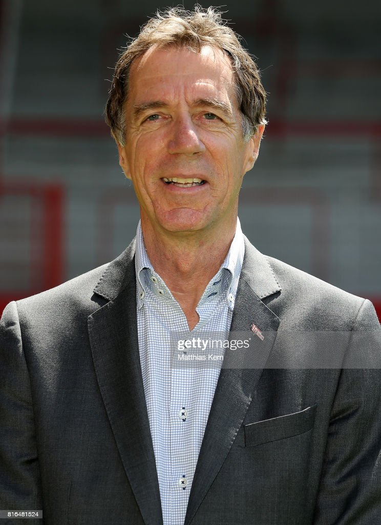 Manager Helmut Schulte of 1. FC Union Berlin poses during the team presentation at Stadion an der Alten Foersterei on July 17, 2017 in Berlin, Germany.