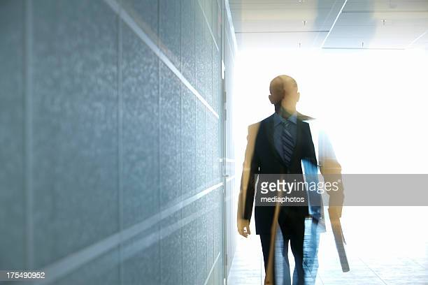 Manager in corridor