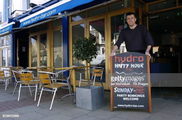 Manager James Williamson outside the The Hydro Bar in Battersea