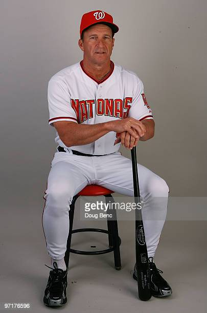 Manager Jim Riggleman of the Washington Nationals poses during photo day at Space Coast Stadium on February 28 2010 in Viera Florida