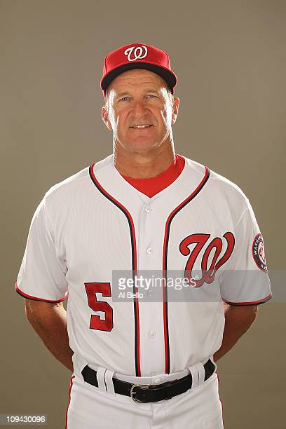 Manager Jim Riggleman of the Washington Nationals poses for a portrait during Spring Training Photo Day at Space Coast Stadium on February 25 2011 in...
