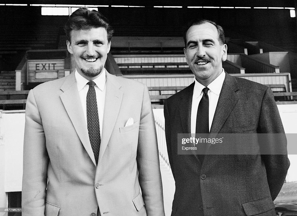 Manager Jimmy Hill and Chairman D H Robins or Derrick Robins of Coventry City FC UK 4th August 1964