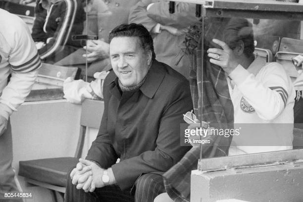 Manager Jock Stein watches his team beat West Bromwich Albion 10 in the League Cup Days later he resigned to become Scotland Manager