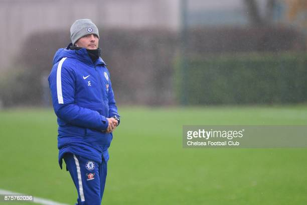 Manager Joe Edwards of Chelsea during the Premier league 2 match between Tottenham Hotspur and Chelsea on November 18 2017 in Enfield England