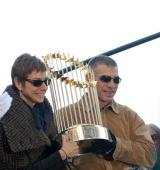 Manager Joe Girardi of the New York Yankees attends the 2009 New York Yankees World Series victory parade on November 6 2009 in New York City