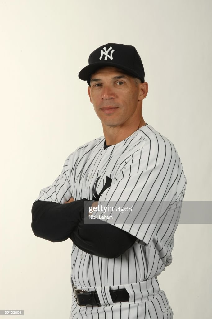 Manager Joe Girardi #27 of the New York Yankees poses during Photo Day on February 19, 2009 at Legends Field in Tampa, Florida.