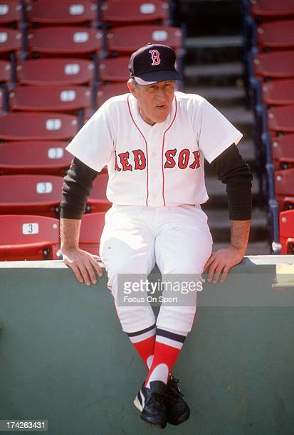 Manager Joe Morgan of the Boston Red Sox looks on before the start of a Major League Baseball game circa 1989 at Fenway Park in Boston Massachusetts...