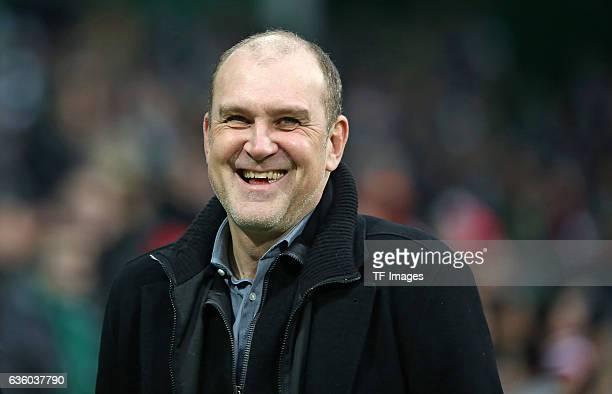 Manager Joerg Schmadtke of Cologne looks on during the Bundesliga match between Werder Bremen and 1 FC Koeln at Weserstadion on December 17 2016 in...