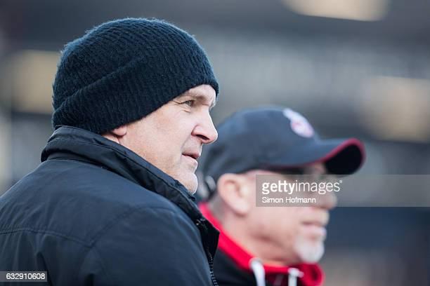 Manager Joerg Schmadtke of Koeln looks on prior to the Bundesliga match between SV Darmstadt 98 and 1 FC Koeln at JonathanHeimesStadion am...