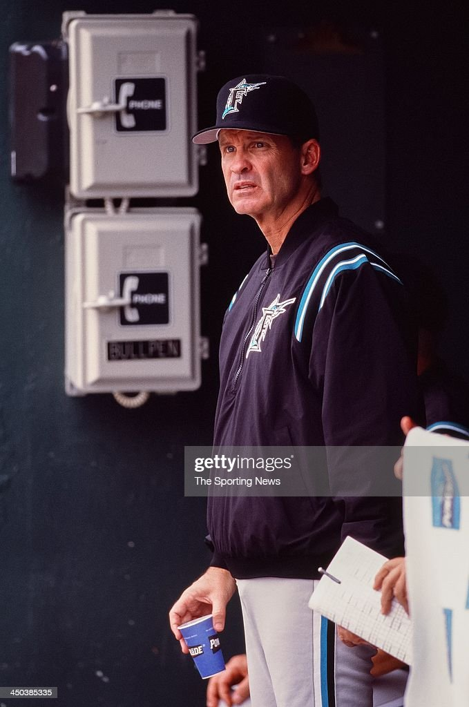 Manager John Boles of the Florida Marlins during the game against the Baltimore Orioles at Oriole Park at Camden Yards on July 16 2000 in Baltimore...