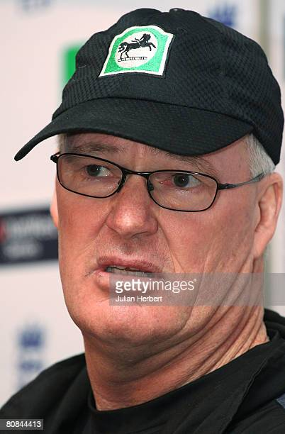 Manager John Bracewell of The New Zealand Cricket Team holds a press conference at the start of their tour of at Lords on April 24 2008 in London...