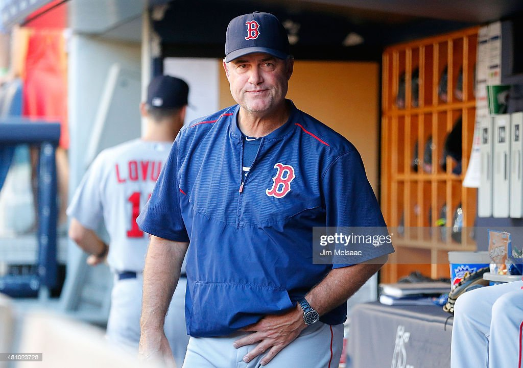 Manager <a gi-track='captionPersonalityLinkClicked' href=/galleries/search?phrase=John+Farrell+-+Honkbalmanager&family=editorial&specificpeople=10307520 ng-click='$event.stopPropagation()'>John Farrell</a> #53 of the Boston Red Sox looks on before a game against the New York Yankees at Yankee Stadium on August 4, 2015 in the Bronx borough of New York City. The Yankees defeated the Red Sox 13-3.