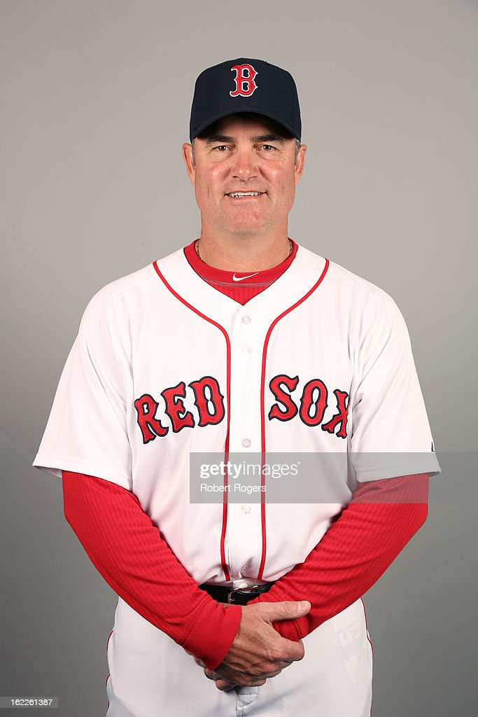 Manager <a gi-track='captionPersonalityLinkClicked' href=/galleries/search?phrase=John+Farrell+-+Baseball+Manager&family=editorial&specificpeople=10307520 ng-click='$event.stopPropagation()'>John Farrell</a> #53 of the Boston Red Sox poses during Photo Day on February 17, 2013 at JetBlue Park in Fort Myers, Florida.