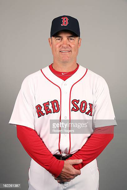 Manager John Farrell of the Boston Red Sox poses during Photo Day on February 17 2013 at JetBlue Park in Fort Myers Florida