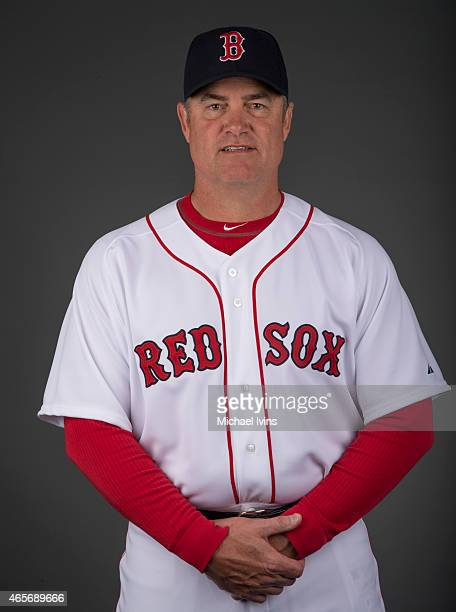 Manager John Farrell of the Boston Red Sox poses during Photo Day on Sunday March 1 2015 at JetBlue Park in Fort Myers Florida