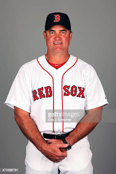 Manager John Farrell of the Boston Red Sox poses during Photo Day on Sunday February 23 2013 at JetBlue Park in Fort Myers Florida