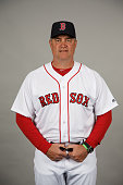 Manager John Farrell of the Boston Red Sox poses during Photo Day on Sunday February 28 2016 at JetBlue Park in Fort Myers Florida