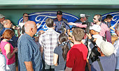 Manager John Farrell of the Boston Red Sox talks to the media prior to the spring training game3 against the Minnesota Twins at JetBlue Park on March...
