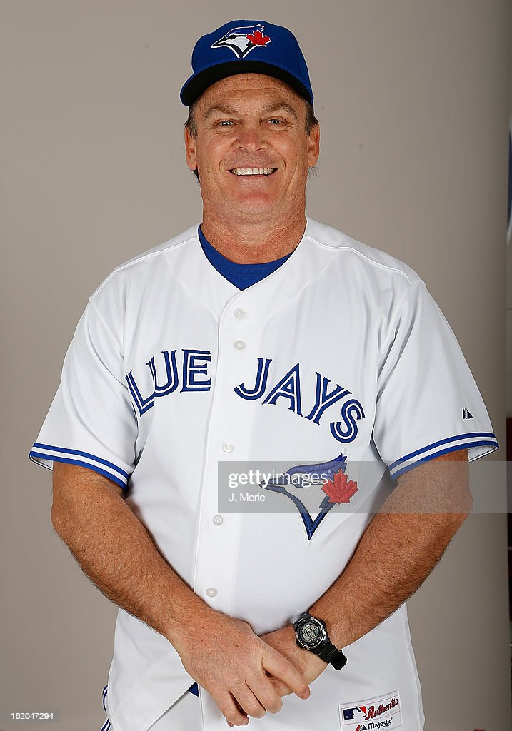 Manager <a gi-track='captionPersonalityLinkClicked' href=/galleries/search?phrase=John+Gibbons&family=editorial&specificpeople=218120 ng-click='$event.stopPropagation()'>John Gibbons</a> #5 of the Toronto Blue Jays poses for a photo during photo day at Florida Auto Exchange Stadium on February 18, 2013 in Dunedin, Florida.