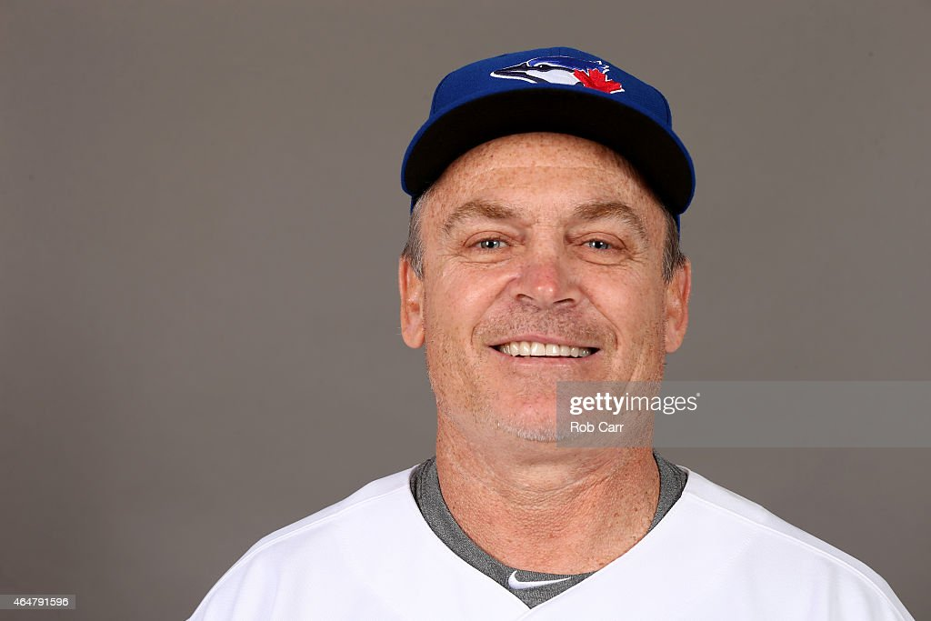 Manager <a gi-track='captionPersonalityLinkClicked' href=/galleries/search?phrase=John+Gibbons&family=editorial&specificpeople=218120 ng-click='$event.stopPropagation()'>John Gibbons</a> #5 of the Toronto Blue Jays poses on photo day on February 28, 2015 in Dunedin, Florida.