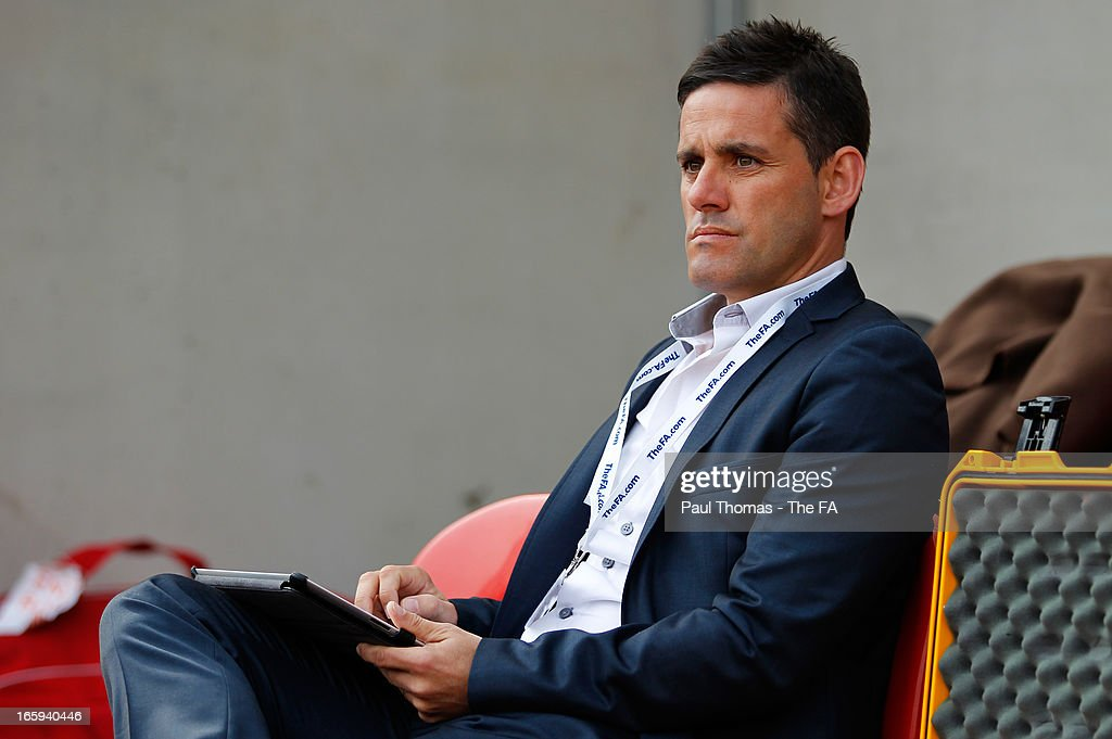 Manager John Herdman of Canada prior to the International friendly match between England and Canada at The New York Stadium on April 7, 2013 in Rotherham, England.
