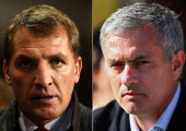 IMAGES Image Numbers 456837437 and 183386392 In this composite image a comparison has been made between Brendan Rodgers manager of Liverpool and...