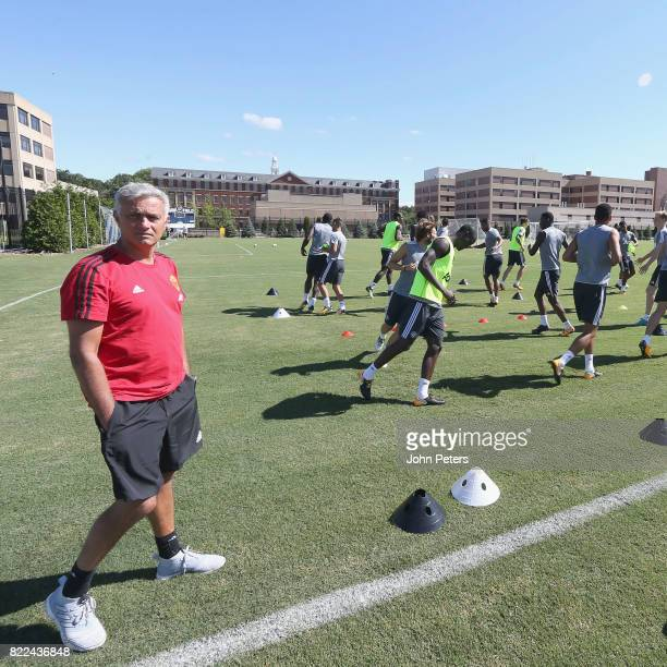 Manager Jose Mourinho of Manchester United in action during a first team training session as part of their preseason tour of the USA on July 25 2017...