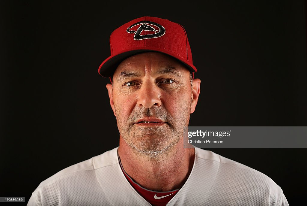 Manager <a gi-track='captionPersonalityLinkClicked' href=/galleries/search?phrase=Kirk+Gibson&family=editorial&specificpeople=207042 ng-click='$event.stopPropagation()'>Kirk Gibson</a> of the Arizona Diamondbacks poses for a portrait during spring training photo day at Salt River Fields at Talking Stick on February 19, 2014 in Scottsdale, Arizona.