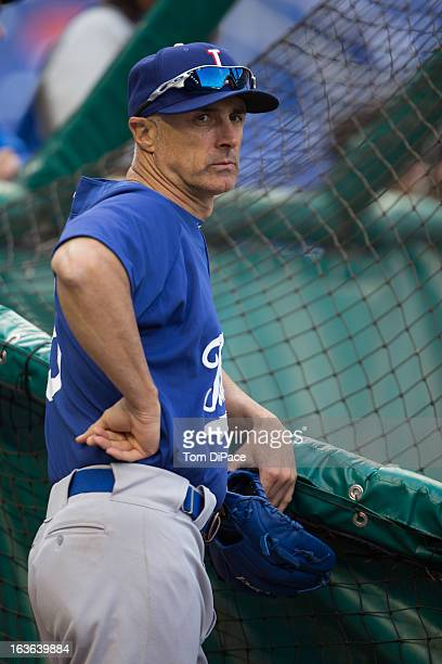 Manager Marco Mazzieri of Team Italy is seen during batting practice before Pool 2 Game 3 against Puerto Rico in the second round of the 2013 World...