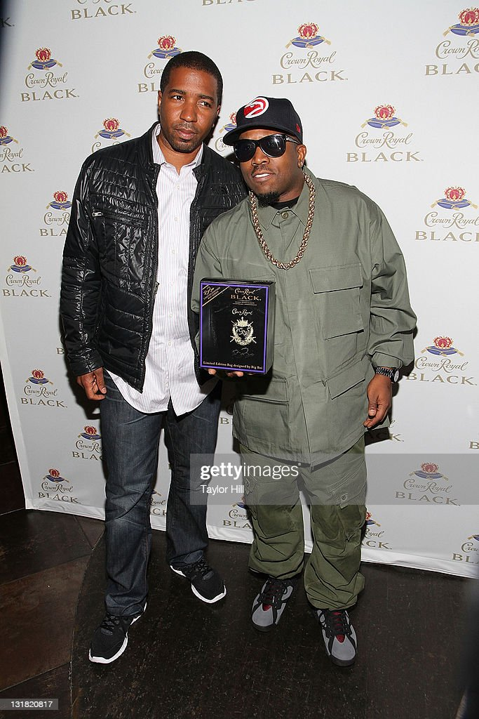 Manager Marcus Grant and Big Boi of Outkast attend the Crown Royal Black launch at Room Service on May 11, 2011 in New York City.