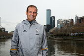 Manager Massimiliano Allegri poses during a Juventus boat ride along the Yarra River on July 19 2016 in Melbourne Australia