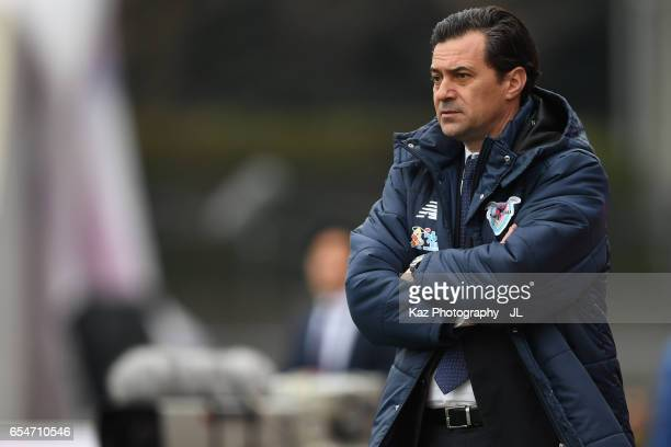 Manager Massimo Ficcadenti of Sagan Tosu looks on during the JLeague J1 match between Cerezo Osaka and Sagan Tosu at Kincho Stadium on March 18 2017...