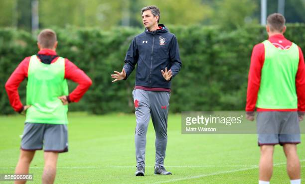 manager Mauricio Pellegrino during a Southampton FC training session at the Staplewood Campus on August 9 2017 in Southampton England