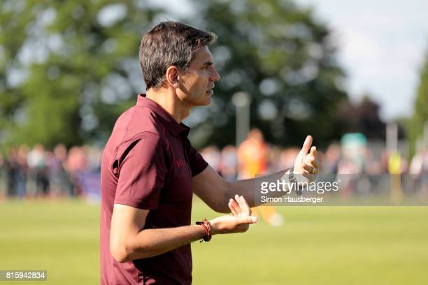 Manager Mauricio Pellegrino from FC Southampton during the preseason friendly match between FC Southampton and St Gallen at Sportanlage Kellen on...