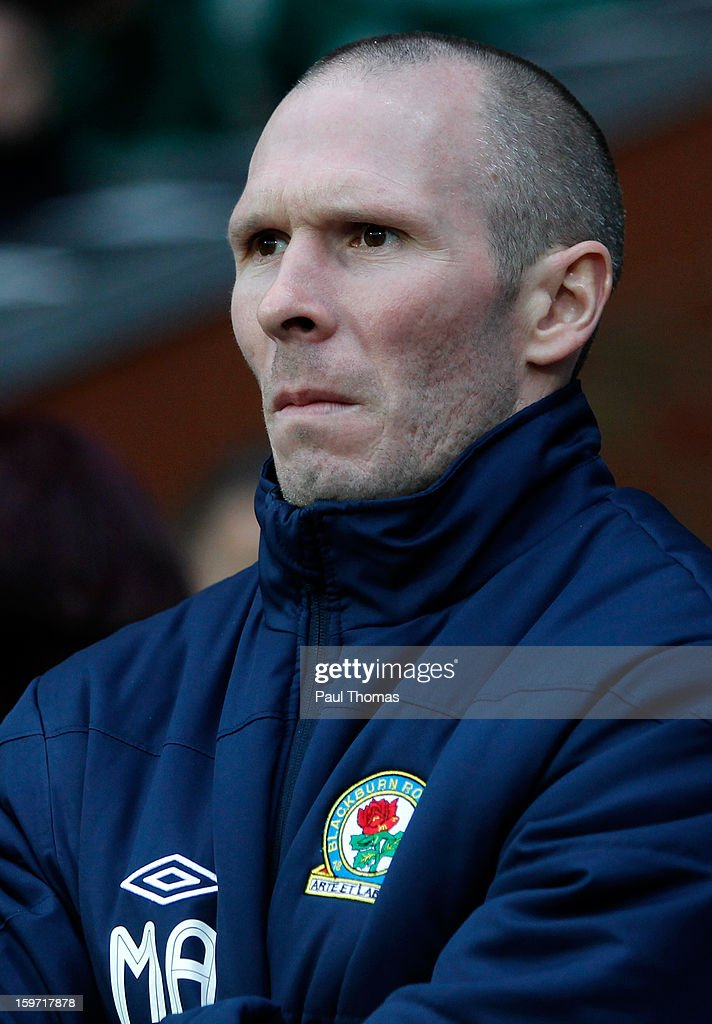 Manager Michael Appleton looks on before the npower Championship match between Blackburn Rovers and Charlton Athletic at Ewood Park on January 19, 2013 in Blackburn, England.