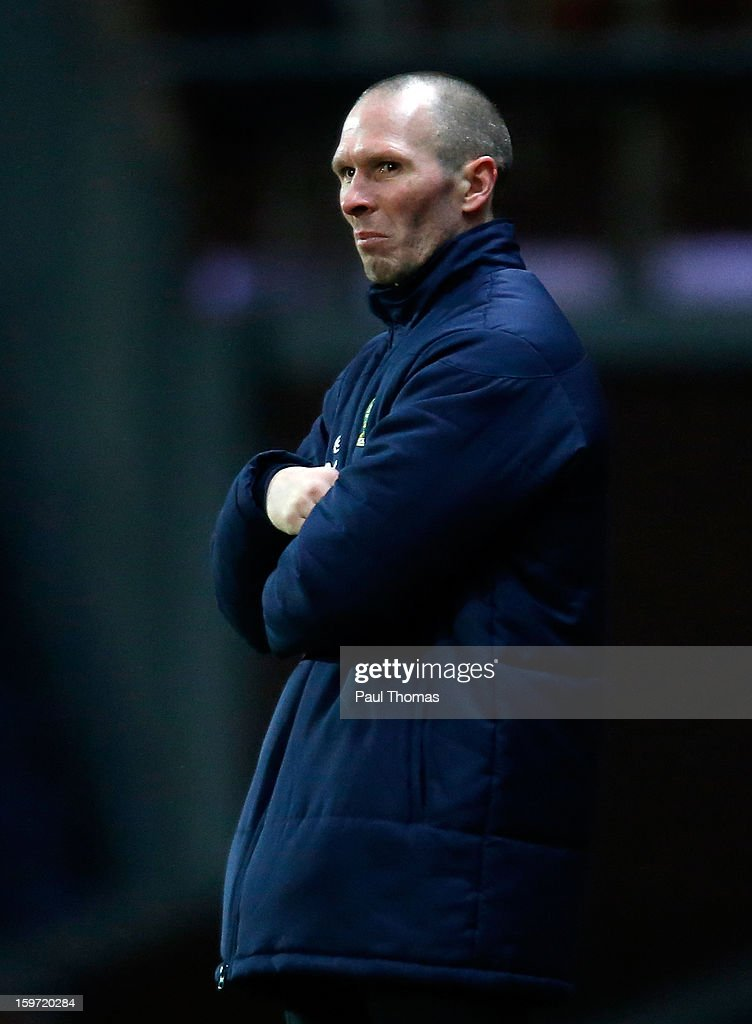 Manager Michael Appleton of Blackburn during the npower Championship match between Blackburn Rovers and Charlton Athletic at Ewood Park on January 19, 2013 in Blackburn, England.