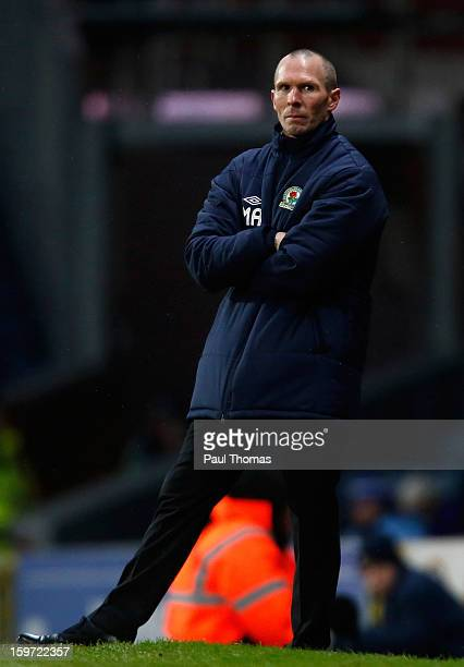 Manager Michael Appleton of Blackburn during the npower Championship match between Blackburn Rovers and Charlton Athletic at Ewood Park on January 19...