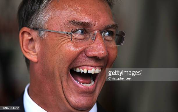 Manager Nigel Adkins of Southampton during the Barclays Premier League match between Southampton and Wigan Athletic at St Mary's Stadium on August 25...