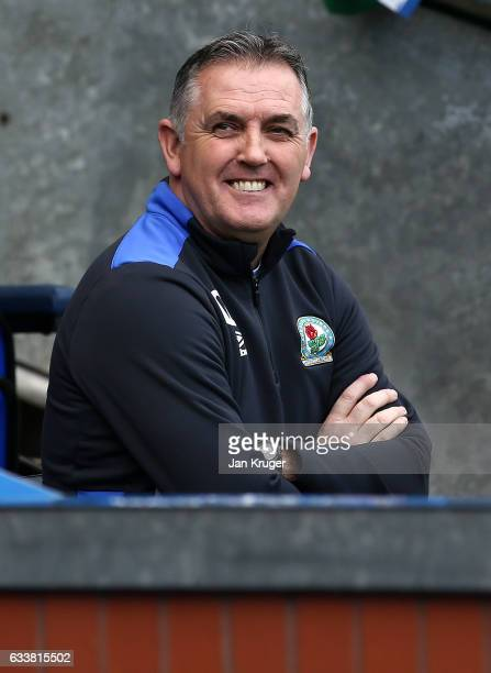 Manager of Blackburn Rovers Owen Coyle looks on during the Sky Bet Championship match between Blackburn Rovers and Queens Park Rangers at Ewood Park...
