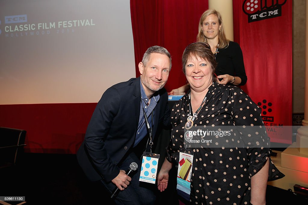 Manager of Brand Activation for TCM Mark Wynns (L) and Vickie Gleason attend the Delta Passholder Breakfast during day 3 of the TCM Classic Film Festival 2016 on April 30, 2016 in Los Angeles, California. 25826_009