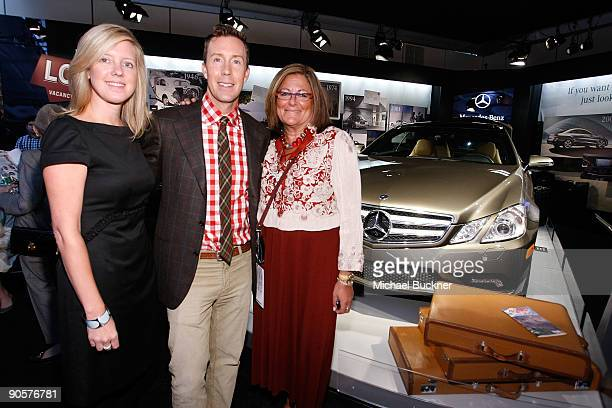 Manager of Brand Experience Marketing Lisa Holladay Eric Jennings of Saks Fifth Avenue and Senior Vice President of IMG Fashion Fern Mallis attend...