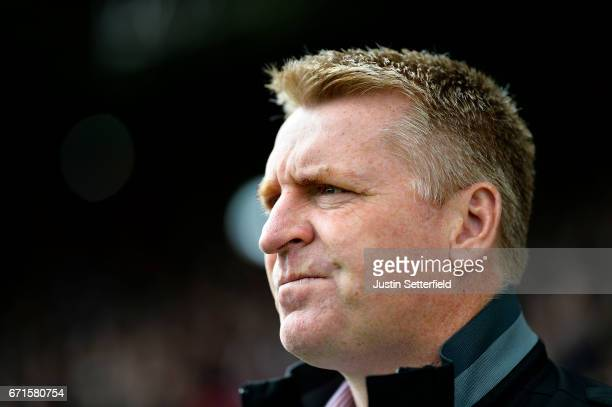 Manager of Brentford Dean Smith ahead of the Sky Bet Championship match between Brentford and QPR at Griffin Park on April 22 2017 in Brentford...