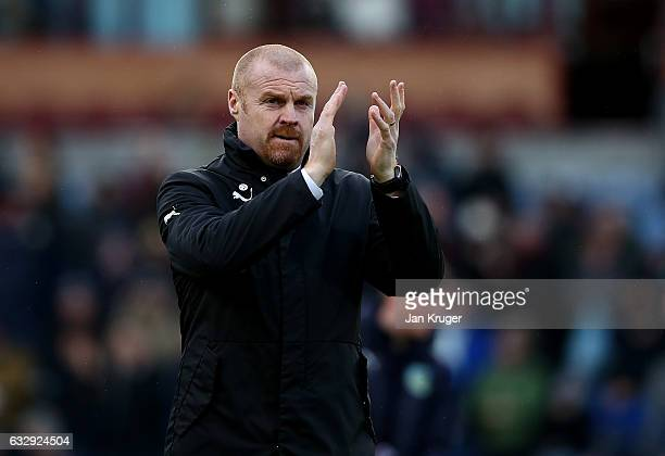 Manager of Burnley Sean Dyche looks on during The Emirates FA Cup Fourth Round match between Burnley and Bristol City at Turf Moor on January 28 2017...