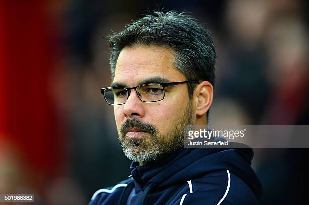 Manager of Huddersfield Town David Wagner looks on during the Sky Bet Championship match between Brentford and Huddersfield Town at Griffin Park on...