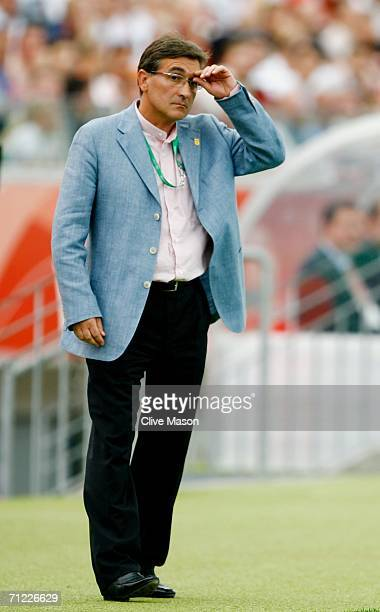 Manager of Iran Branko Ivankovic watches his team in action during the FIFA World Cup Germany 2006 Group D match between Portugal and Iran played at...