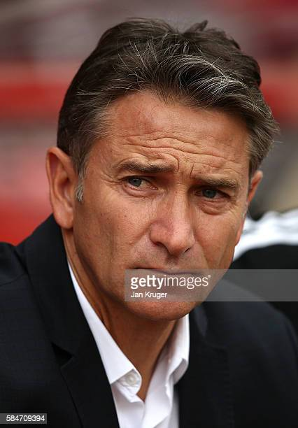 Manager of Nottingham Forest Philippe Montanier looks on during the preseason friendly match between Nottingham Forest and Hull City at City Ground...
