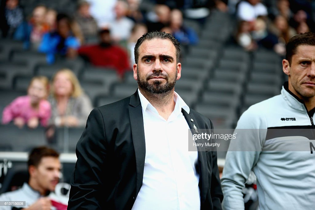Manager of Port Vale Bruno Ribiero looks on prior to the Sky Bet League One match between Milton Keynes Dons and Port Vale at StadiumMK on October 9, 2016 in Milton Keynes, England.