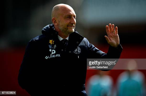 Manager of QPR Ian Holloway ahead of the Sky Bet Championship match between Brentford and QPR at Griffin Park on April 22 2017 in Brentford England
