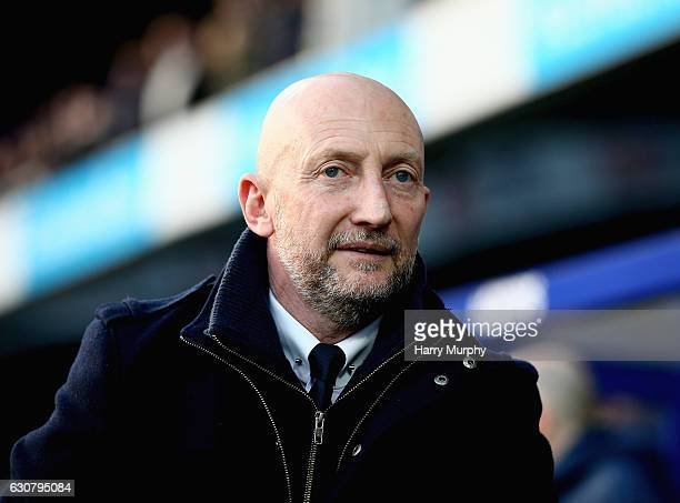 Manager of Queens Park Rangers Ian Holloway looks on prior to the Sky Bet Championship match between Queens Park Rangers and Ipswich Town at Loftus...